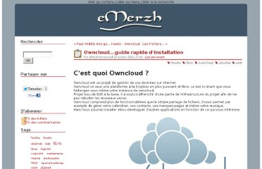 http://blog.bmaron.net/post/2011/10/19/Owncloud...guide-rapide-d-installation
