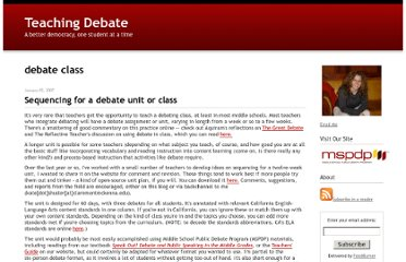 http://teachingdebate.typepad.com/teaching_debate/debate_class/