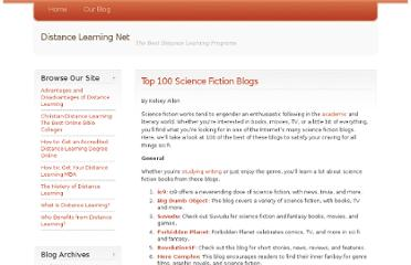 http://www.distancelearningnet.com/blog/2009/top-100-science-fiction-blogs/
