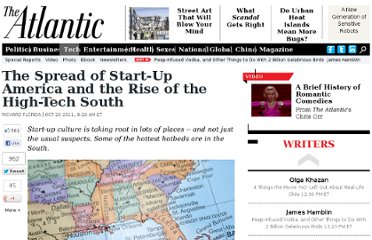 http://www.theatlantic.com/technology/archive/2011/10/the-spread-of-start-up-america-and-the-rise-of-the-high-tech-south/246916/