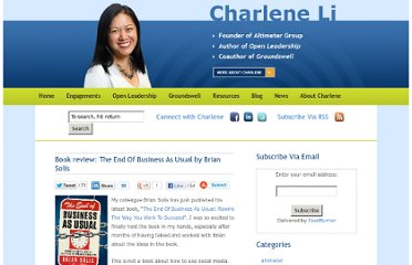 http://www.charleneli.com/2011/10/book-review-the-end-of-business-as-ususal-by-brian-solis/