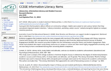 http://wikis.ala.org/acrl/index.php/CCSSE_Information_Literacy_Items