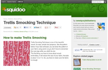 http://www.squidoo.com/trellis-smocking-technique