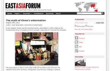 http://www.eastasiaforum.org/2011/08/19/in-the-city-but-not-of-the-city-the-myth-of-china-s-urbanisation/