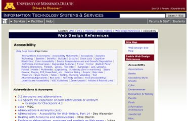 http://www.d.umn.edu/itss/support/Training/Online/webdesign/accessibility.html#benefits