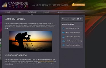 http://www.cambridgeincolour.com/tutorials/camera-tripods.htm