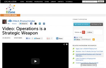 http://agile.dzone.com/videos/operations-strategic-weapon
