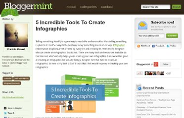 http://www.bloggermint.com/2011/01/5-incredible-tools-to-create-infographics/