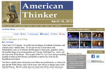 http://www.americanthinker.com/2011/10/cains_valuable_9-9-9_plan.html