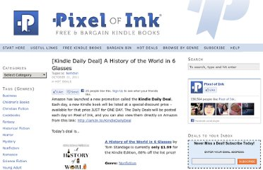 http://www.pixelofink.com/kindle-daily-deal-a-history-of-the-world-in-6-glasses/