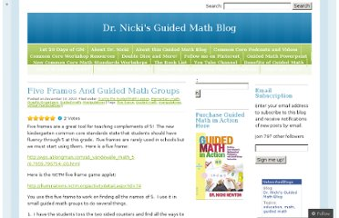 http://guidedmath.wordpress.com/2010/12/10/five-frames-and-guided-math-groups/