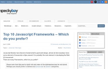 http://speckyboy.com/2008/04/01/top-10-javascript-frameworks-which-do-you-prefer/