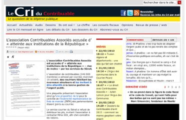 http://www.lecri.fr/2011/10/21/contribuables-associes-accusee-atteinte-aux-institutions-de-la-republique/26490