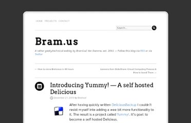 http://www.bram.us/2010/12/21/introducing-yummy-a-self-hosted-delicious/
