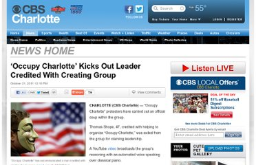 http://charlotte.cbslocal.com/2011/10/21/occupy-charlotte-kicks-out-leader-credited-with-creating-group/
