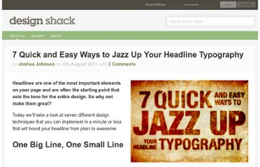 http://designshack.net/articles/typography/7-quick-and-easy-to-jazz-up-your-headline-typography/