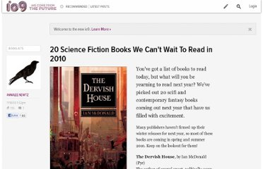 http://io9.com/5405400/20-science-fiction-books-we-cant-wait-to-read-in-2010