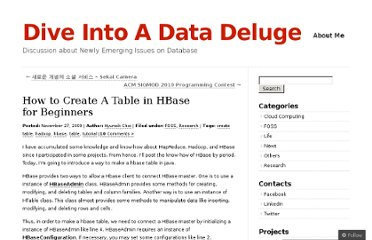 http://diveintodata.org/2009/11/27/how-to-make-a-table-in-hbase-for-beginners/