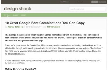 http://designshack.net/articles/css/10-great-google-font-combinations-you-can-copy/
