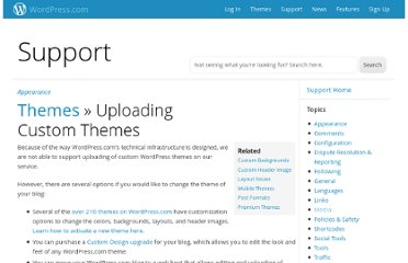 http://en.support.wordpress.com/themes/adding-new-themes/