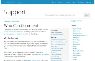 http://en.support.wordpress.com/who-can-comment/