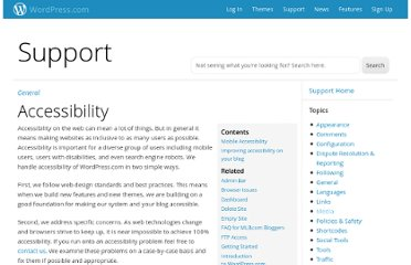 http://en.support.wordpress.com/accessibility/