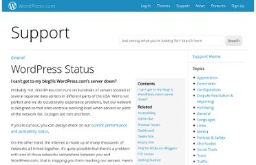 http://en.support.wordpress.com/status/