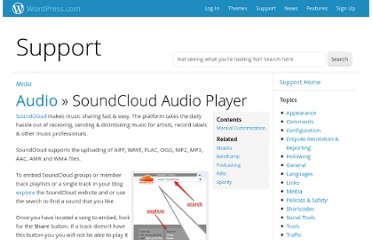 http://en.support.wordpress.com/audio/soundcloud-audio-player/