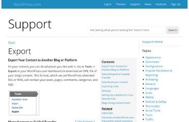 http://en.support.wordpress.com/export/