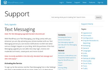 http://en.support.wordpress.com/text-messaging/