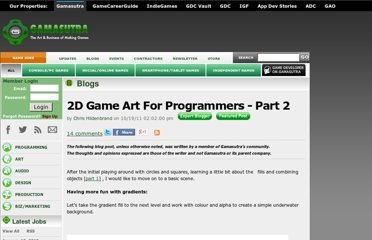 http://gamasutra.com/blogs/ChrisHildenbrand/20111019/8692/2D_Game_Art_For_Programmers__Part_2.php