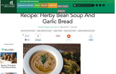 http://www.onegreenplanet.org/foodandhealth/recipe-herby-soup-and-garlic-bread/