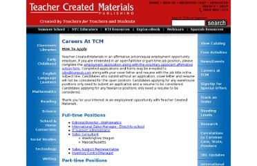 http://www.teachercreatedmaterials.com/careers/#ms