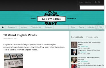 http://listverse.com/2007/09/22/20-weird-english-words/