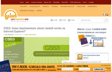 http://www.yourinspirationweb.com/2010/02/18/css3-come-implementare-alcuni-moduli-anche-su-internet-explorer/