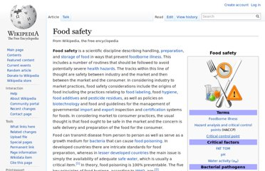 http://en.wikipedia.org/wiki/Food_safety