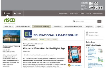http://www.ascd.org/publications/educational-leadership/feb11/vol68/num05/Character-Education-for-the-Digital-Age.aspx