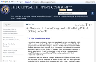 http://www.criticalthinking.org/pages/an-overview-of-how-to-design-instruction/439