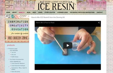 http://www.iceresin.com/articles/how-to-use-ice-resin/