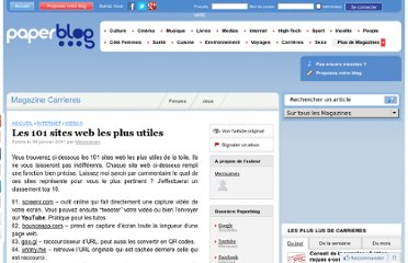 http://www.paperblog.fr/4024627/les-101-sites-web-les-plus-utiles/