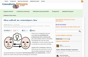 http://blog.consultorartesano.com/2006/11/idea-radical-no-comuniques-haz.html