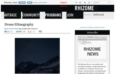http://rhizome.org/editorial/2011/jul/20/drone-ethnography/
