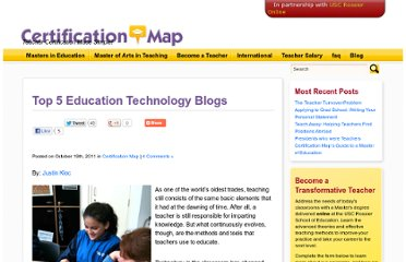 http://certificationmap.com/top-5-education-technology-blogs/