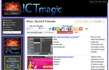 http://ictmagic.wikispaces.com/Music%2C+Sound+%26+Podcasts