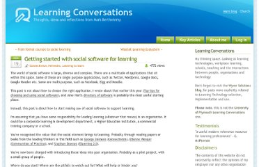http://www.learningconversations.co.uk/main/index.php/2009/11/19/getting-started-with-social-software-for-learning?blog=5