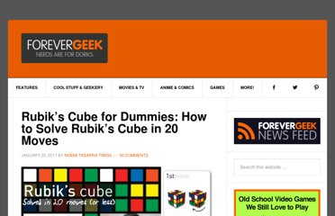 http://www.forevergeek.com/2011/01/rubiks-cube-for-dummies-how-to-solve-rubiks-cube-in-20-moves/