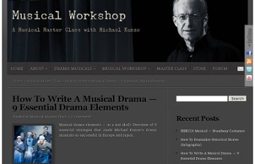 http://www.musicalworkshop.org/how-to-write-a-musical-drama-9-essential-drama-elements/