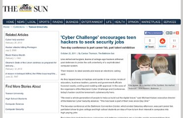 http://articles.baltimoresun.com/2011-10-22/news/bs-md-cybersecurity-challenge-20111022_1_teen-hackers-computer-servers-college-students
