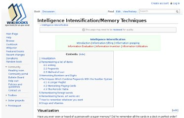 http://en.wikibooks.org/wiki/Intelligence_Intensification/Memory_Techniques