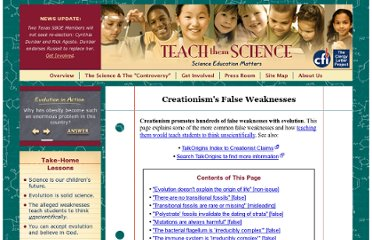 http://www.teachthemscience.org/falseweaknesses